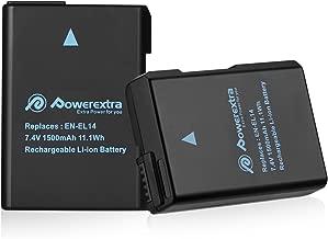 Powerextra Batería Nikon EN-EL14 EN EL14a para Nikon D3100