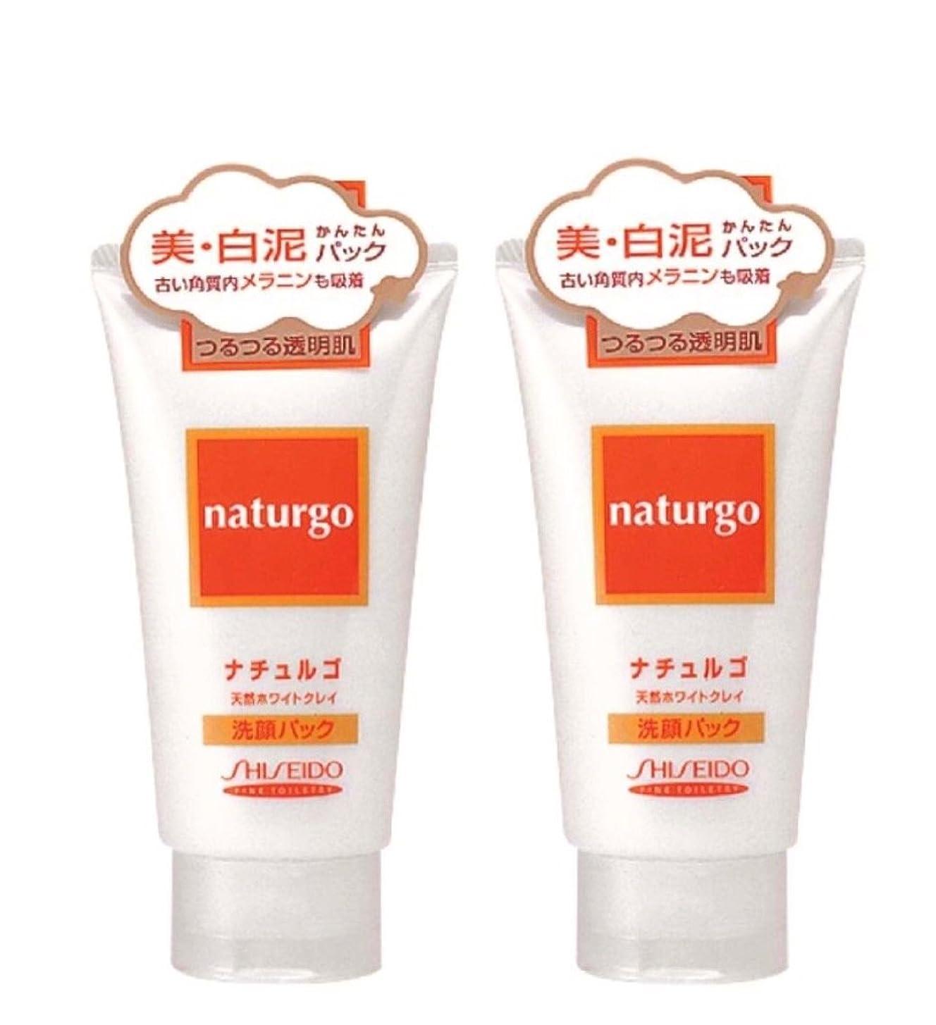 あえて配送円形の【まとめ買い】ナチュルゴ 天然ホワイトクレイ洗顔パック 120g ×2セット