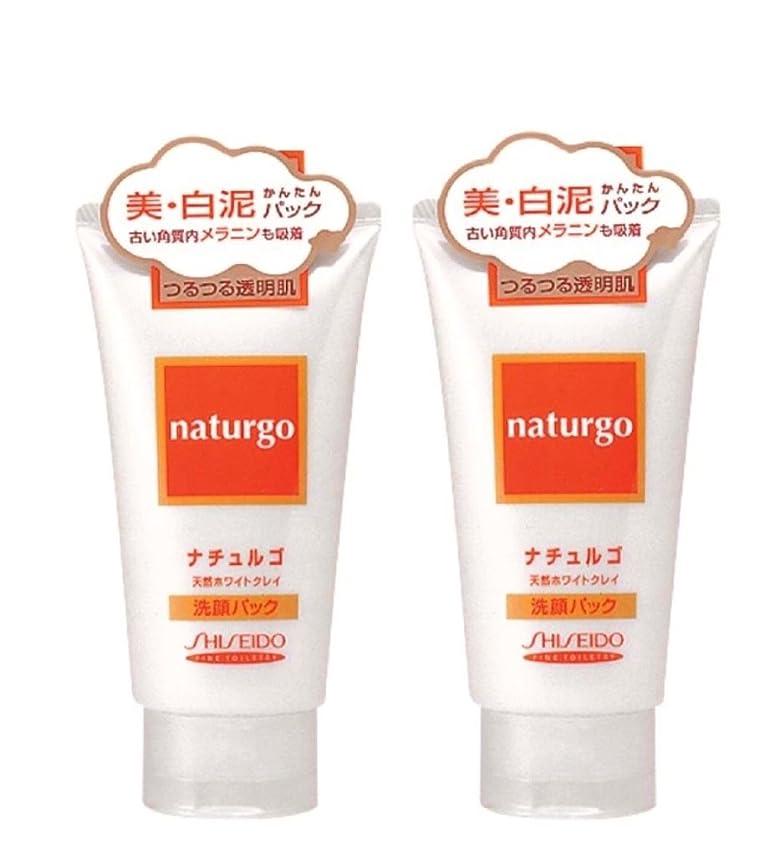 明確な未来遊びます【まとめ買い】ナチュルゴ 天然ホワイトクレイ洗顔パック 120g ×2セット
