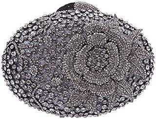 Fawziya Big Rhinestones Flower Clutch Purses And Handbags For Girls