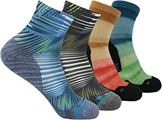 Unisex Digital Printed Quick Wicking Quarter Hiking Socks 3,4,7 Pairs