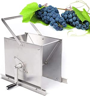 WUPYI Stainless Steel Grape Crusher,Manual Fruit Crusher Crushing Machine Manual Juicer Grinder Home Brewing Equipment for Wine and Grape Cherry Pressing