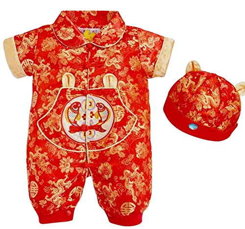 CRB Fashion - Conjunto de camiseta para recién nacido y niña china - - 4- 8 meses