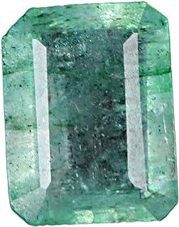 GEMHUB Esmeralda verde certificada natural 3,75 quilates brillante piedra preciosa de corte esmeralda para anillo colgante...