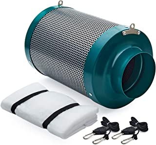 Growtent Garden 4 inch Air Carbon Filter Odor Controler Filled by Australia Virgin Charcoal with Reversible Flange for Inl...