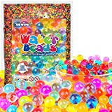 ORWINE Water Beads 55000 Rainbow Water Beads for Kids Non Toxic Growing Balls Jelly Water Gel Beads for Plants Vases Foot Spa Home Decorations Water Table Kids Sensory Toys Aqua Beads Bulk Bday Gifts