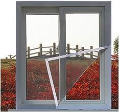 BASHI Universeel balkonraamnet, praktisch vliegenraam-muggengaas, raamgaas voor kattenbescherming, sterk pvc-gecoat glasve...