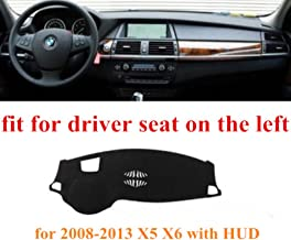 HEALiNK Car Dashboard Cover Mat for BMW X5 X6 with HUD 2008-2013