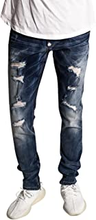 KDNK Distressed Ankle Zip Jeans