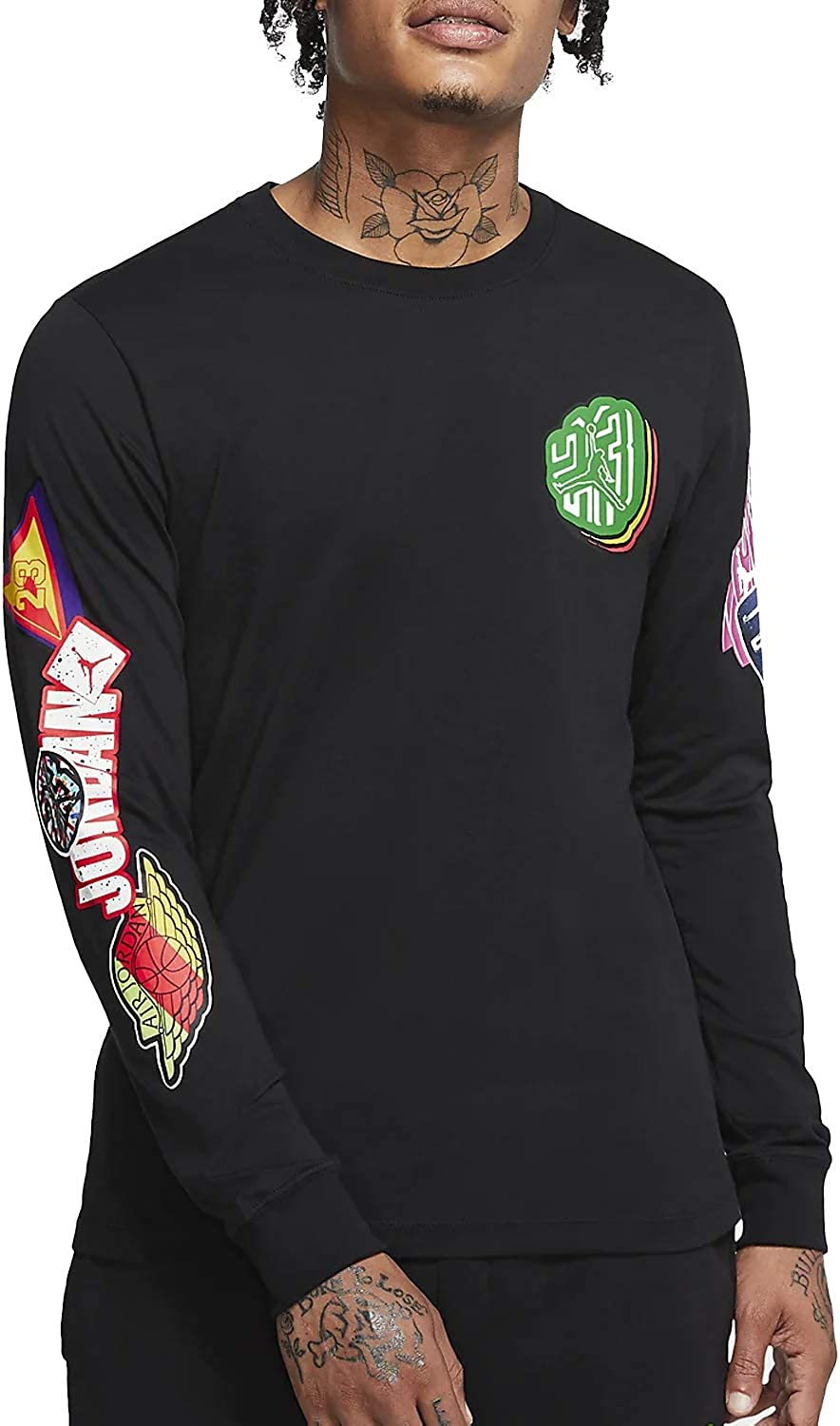 Nike Challenge the lowest price Repeat Stick At the price of surprise Men's Black T-Shirt CD5513-010 > <br