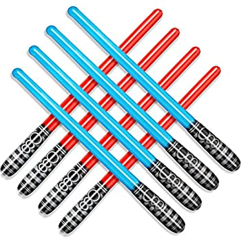 Novelty Place Inflatable Light Saber Sword Toys Set for Kids Party Favors 30 Inches  Pack of 8