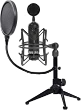 Blue Blackout Spark SL Condenser Studio Microphone+Shockmount+Tripod+Pop Filter