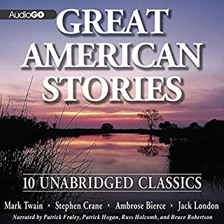 Great American Stories                   By:                                                                                                                                 Mark Twain,                                                                                        Stephen Crane,                                                                                        Ambrose Bierce                               Narrated by:                                                                                                                                 Patrick Fraley,                                                                                        Patrick Hagan                      Length: 5 hrs and 29 mins     17 ratings     Overall 3.6