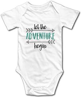 OASCUVER ElinaDesdemona Let New Adventure Begin Cotton Infant Bodysuit Playsuit Union Suit Baby Short-Sleeve Bodysuit