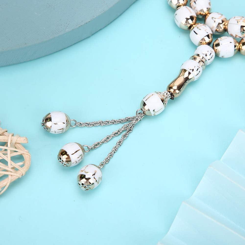 7 Colors Optional Islamic Tasbih Prayer Beads Muslim Rosary Worship Supplies Accessory Blue