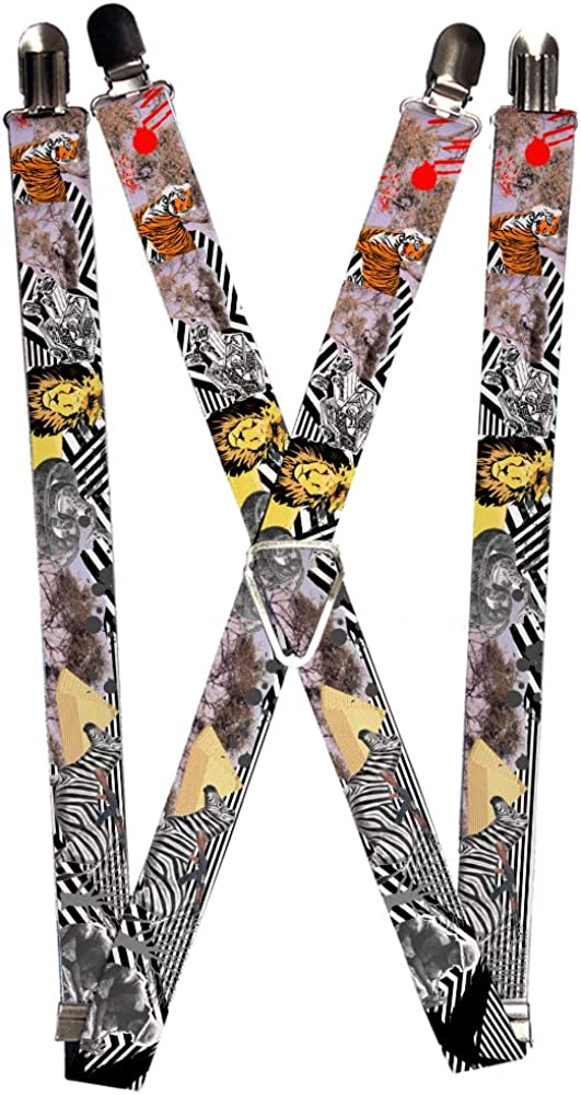 Buckle-Down Men's Suspender-Safari, Multicolor, One Size
