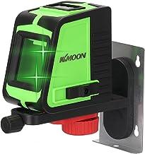 Romacci Ferramenta multifuncional de nivelamento de janela grande de nível de laser de 2 linhas com função de alarme sonoro