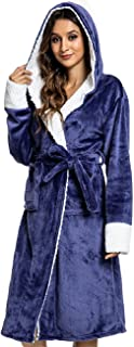 CMTOP Hoodies Sherpa Blanket Dryrobe Dressing Gown Womens Bathrobe Fluffy Maternity Pyjamas comfy bear Plush Fleece Housec...