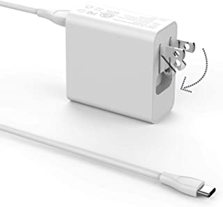 USB C Charger, LAP POW Portable Wall Charger with USB C to USB C Cable for Asus Chromebook Flip C213 C213S C213SA C302 C302C C302CA T303U T303UA Transformer 3 Pro 45W USB C Laptop AC Adapter