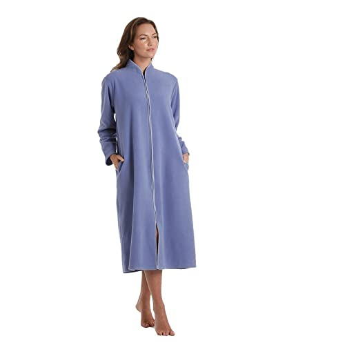 4c4d90de58 Ladies Polar Fleece Zip Front Dressing Gown Sizes 10-24