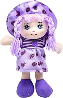 rongweiwang Stoppade dockor plysch 25 cm tecknad frukt baby tyg leksaker fylld tryck kjol hatt trasa docka mjuk söt babydu...