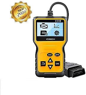 careslong OBD2 Herramienta de diagnóstico Lector automático de códigos V310-Escáner automático Puede Leer y borrar el código de transmisión almacenado,Mostrar imágenes fijas,información del vehículo