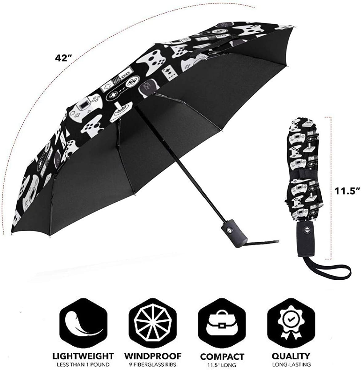 Umbrellas Black Video Game Weapon Funny Gamer SYAyeah Universal ...