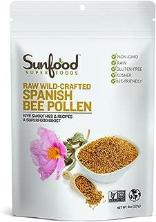 Sunfood Superfoods Spanish Bee Pollen- raw, wild-crafted. 8 oz Bag