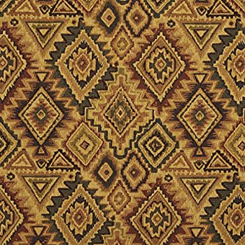 E101 Southwestern Navajo Lodge Style Upholstery Grade Fabric by The Yard