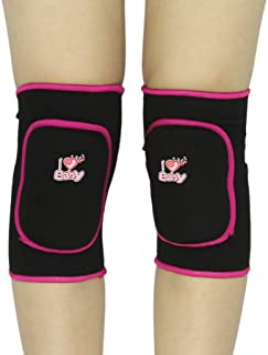 Chirldren Teenages 儿童护膝 1 对厚海绵碰撞避免运动护膝可调节防滑滑冰足球排球自行车护膝膝支撑