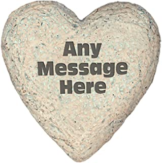 GiftsForYouNow Any Message Heart Shaped Personalized Garden Stone, 8.5