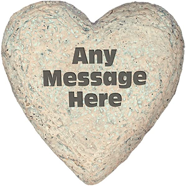 GiftsForYouNow Any Message Heart Shaped Personalized Garden Stone 8 5
