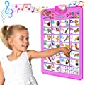 Just Smarty Electronic Interactive Alphabet Wall Chart, Talking ABC & 123s & Music Poster, Best Educational Toy for Toddler. Kids Fun Learning at Daycare, Preschool, Kindergarten for Boys & Girls from Just Smarty