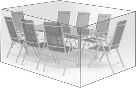 WOLTU Schutzhülle Schutzhaube Abdeckplane Abdeckhaube Gewebeplane Gartenmöbel Plane Hülle Abdeckung für Sitzgruppe Möbelset 250x210x90cm Transparent GZ1197tp