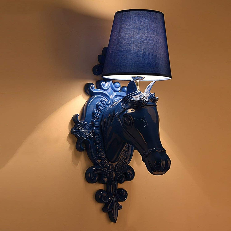 WEI Pferdekopf Wandleuchte Wohnzimmer Moderne Einfache Kreative Schlafzimmer Pferdekopf Lampe Europischen Harz Wandleuchte