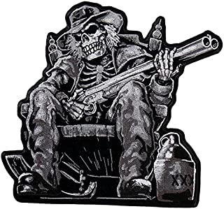 Hot Leathers Moonshine Skeleton Patch (Multicolor, 9