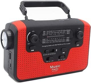 Portable Solar Radio, Multi-Function Bluetooth Speaker, Emergency Am/Fm/Sw Crank-Crank Radio, With Led Flashlight, Sos , Sd Card/Bluetooth Player, Solar Mobile Power, Survival, Travel, Hiking ZDDAB