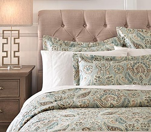 Home Decorators Collection Plazzo Duvet Cover, Twin, Geyser