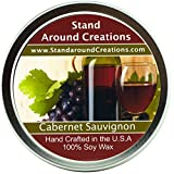 Premium 100% All Natural Soy Wax Aromatherapy Candle - 8 oz Tin- Cabernet Sauvignon Wine: The sweet aroma of wild grapes enhanced with hints of strawberries and sweet sugary notes with a light alcoholic background. A wonderful aroma of red sweet cabernet wine.