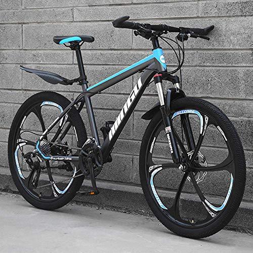 DJP Mountain Bike, Mobili in Acciaio ad Alto Tenore Di Carbonio Mountain Bike, Mountain Bike da 26 Pollici da Uomo, Mountain Bike con Sedile Regolabile a Sospensione Anteriore, Bici da Città Ciano 6