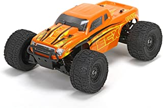 ECX Ruckus 4WD RTR Monster Truck (1/18 Scale), Orange/Yellow
