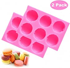 MoldFun 2-Pack 3D Macaroon Silicone Mold for Fondant, Macaron Hamburger Baking Molds, Candle Mold, Muffin Molds, Cake/Cupcake Decorating, Chocolate, Candy, Polymer Clay, Mini Soap, Bath Bomb