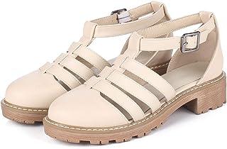 5d64e3bdc Summer Closed Toe Women Sandals Cut-Outs Sandals Sweet Ankle Strap Women  Shoes