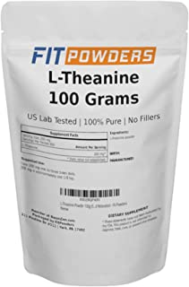 L-Theanine Powder 100g (500 Day Supply) 100% Pure, Non-GMO, Mood and Cognitive Supplement, Stress Relief and Relaxation - ...