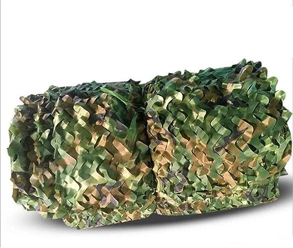 YAGEER Filet de Camouflage 2 × 3m Camouflage Net Armée De Tir Jungle Camouflage Net Camping Chasse Cachée Militaire Woodland Ombrage Net Oxford Tissu Décoration Chambre Garden Party