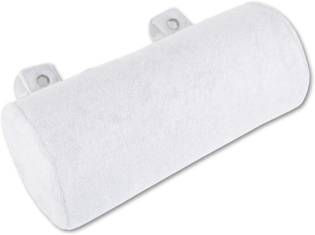 Coussin de bain 11 x 25 cm, blanc /– blanc perle