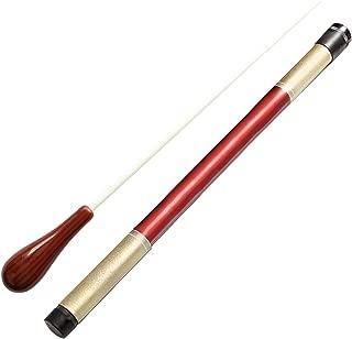 Music Conductor Batons,Imitation Agate Handle Orchestra Conducting Baton Music Batons (Dark Red)