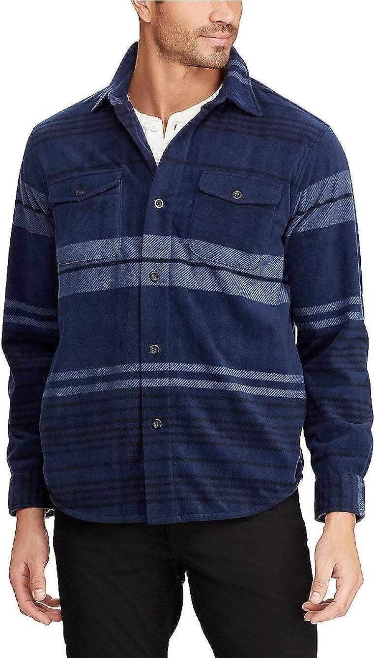 Chaps Men's Classic-Fit Plaid Microfleece Shirt Big & Tall