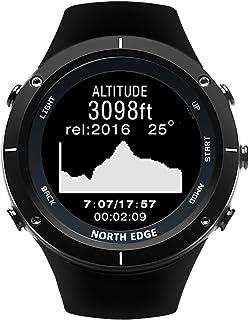 GXLX Reloj Multifunción para Deportes Al Aire Libre Montañismo Brújula Barómetro Medidor de Ritmo Cardíaco Detección,Negro