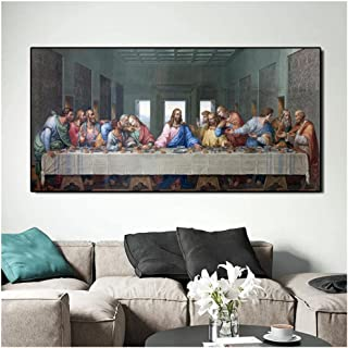 Tudoupl Leonardo Da Vinci'S The Last Supper Canvas Painting Famous Poster And Prints Cuadros Wall Art Picture For Living R...